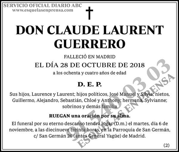 Claude Laurent Guerrero